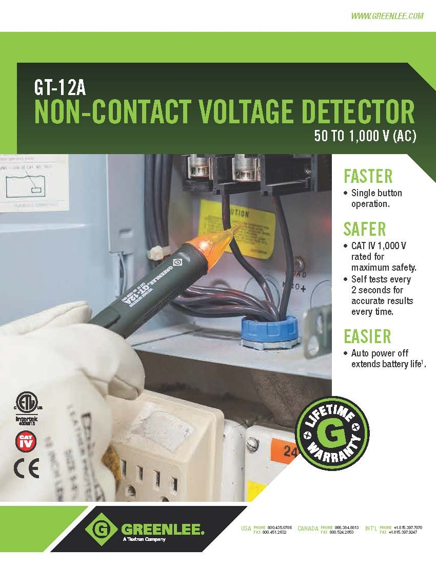 Greenlee Gt 12a Non Contact Voltage Detector Circuit Testers 102 Results For Breaker Identifier Sale Classifieds