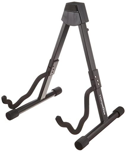Amazon.com: AmazonBasics Guitar Folding A-Frame Stand for Acoustic ...