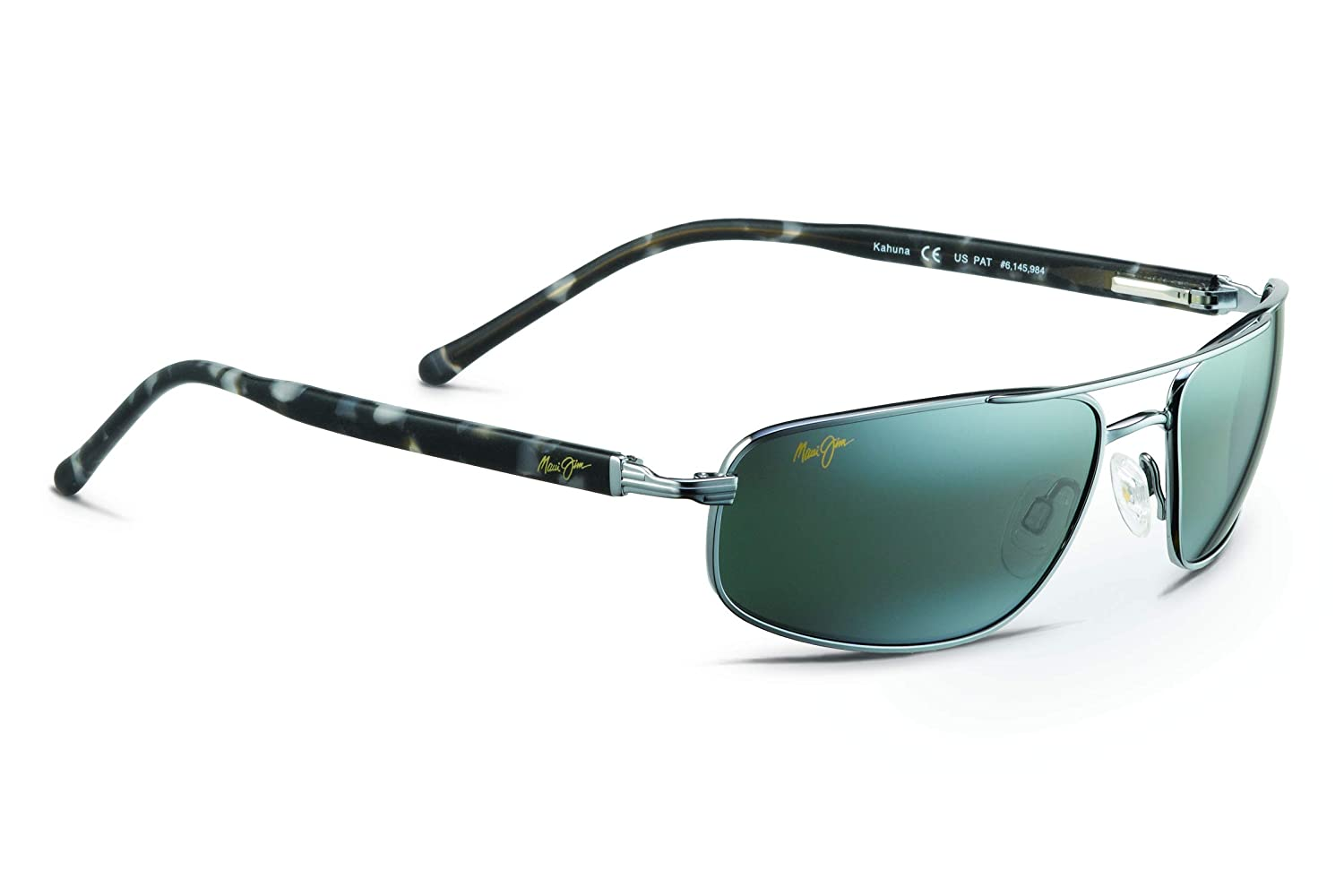 2e95a91e8277 Amazon.com: Maui Jim Kahuna 162-02 | Polarized Gunmetal Rectangular Frame  Sunglasses, Neutral Grey Lenses, with Patented PolarizedPlus2 Lens  Technology
