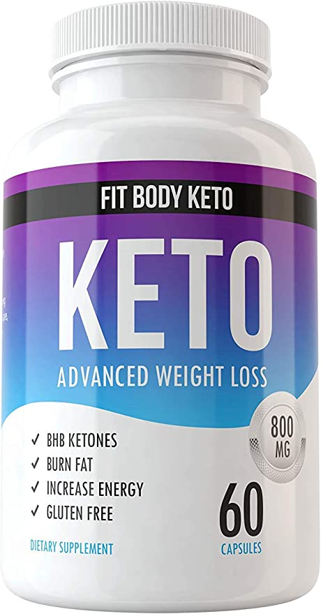 Fit Body Keto Diet Weight Loss Supplement for Men and Women - Advanced Weight Loss Blend Capsules - Top Fat Burn BHB Supplement - Burn Fat for Fuel Not Carbs - Appetite Suppressant and Energy Boost