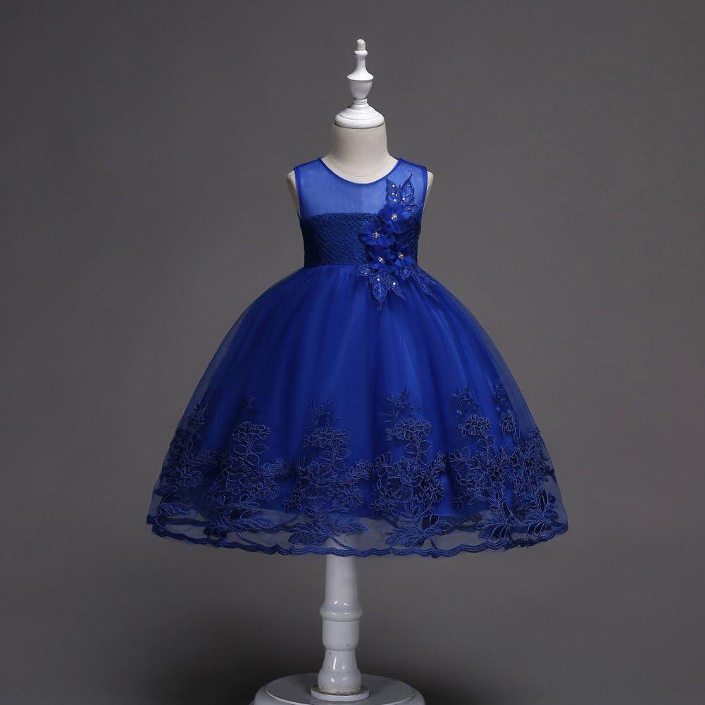 OBEEII Little Big Girl Flower Lace Tutu Short Dress Junior Bridesmaid Evening