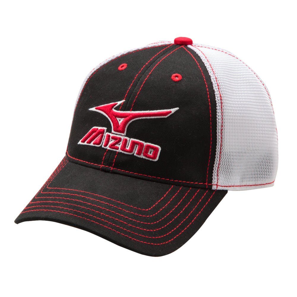 Mizuno 370211.5100.10.ONE Mesh Trucker Hat One-Size, Navy-White Greys Distribution