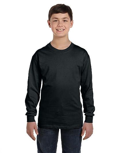 bc793aaddac Amazon.com  Gildan Heavy Cotton Youth Long-Sleeve T-Shirt  Clothing