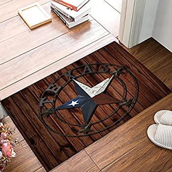 Studio M MatMates Lone Star State Texas Decorative Floor Mat Indoor or Outdoor Doormat with Eco-Friendly Recycled Rubber Backing 18 x 30 Inches