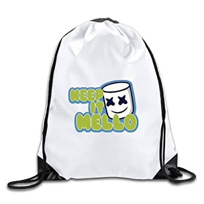 7116628c8741 Custom Keep It Marshmello DJ Sport Backpack Drawstring Print Bag ...