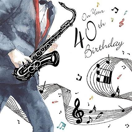 Twizler Happy 40th Tarjeta de cumpleaños para él con ...