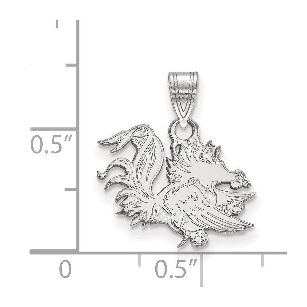 17mm x 18mm Jewel Tie 925 Sterling Silver University of South Carolina Small Pendant