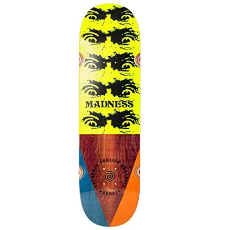 Amazon.com   Madness Skateboard Deck Decent Impact Light Multi 8.75 ... 54686bbc2d6