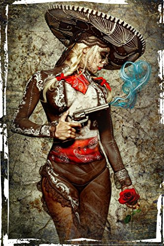Laminated El Mariachi Muerte Amore by Daveed Benito