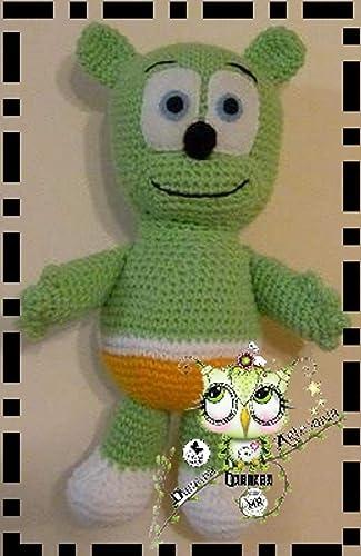 OSITO GOMINOLA AMIGURUMI (Bebé, crochet, ganchillo, muñeco, peluche, niño,