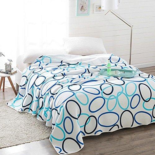 ZQ Modern fashion Children Bedroom Summer Quilt Set made with Organic Cotton, Soft and Lightweight , dance fashion - lan , 180x220cm by Quilt ZQ (Image #1)