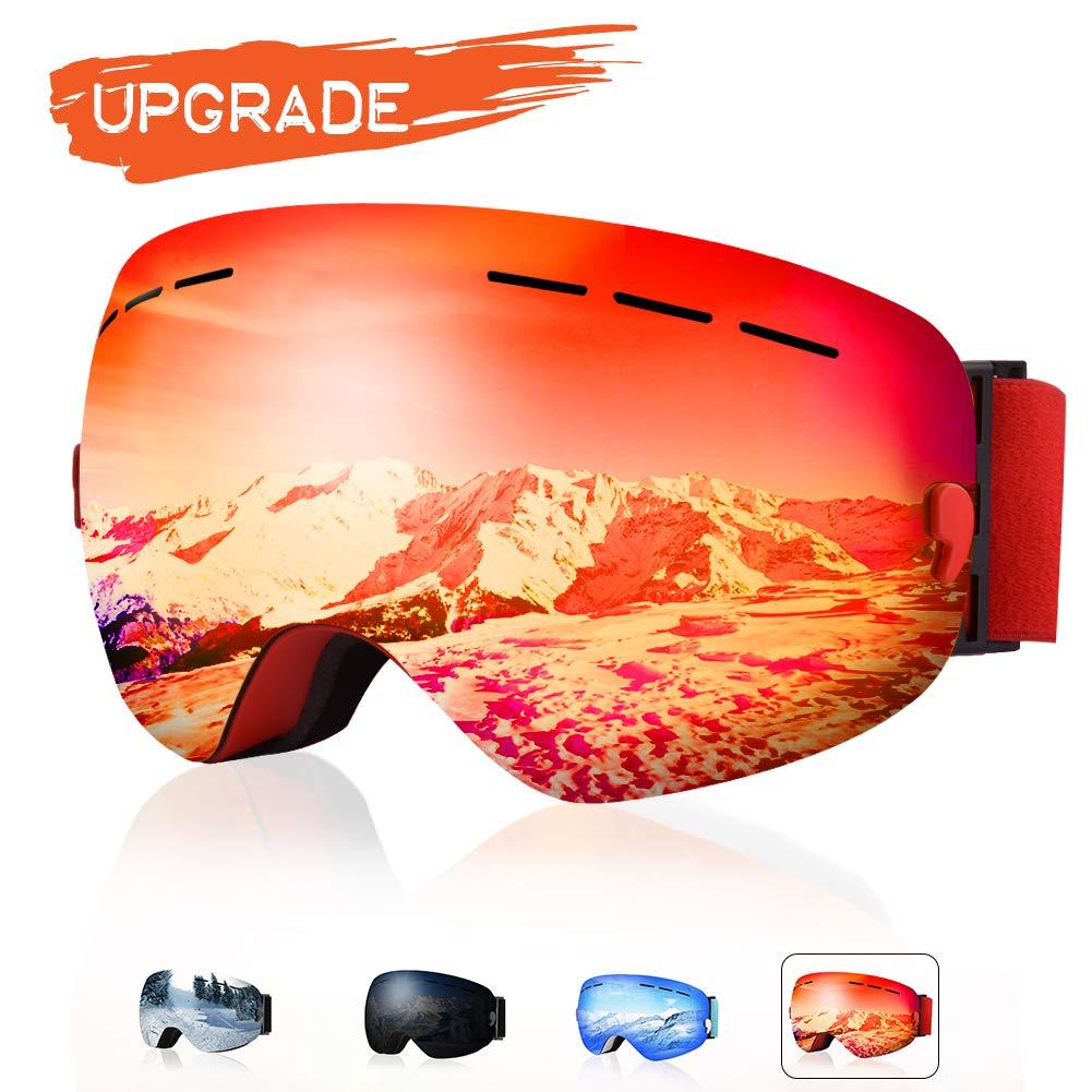 15a73896723 XOOYKI Ski Snowboard Goggles Winter Sports Eyewear Dual Lens Anti-Fog OTG  UV Protection Replaceable