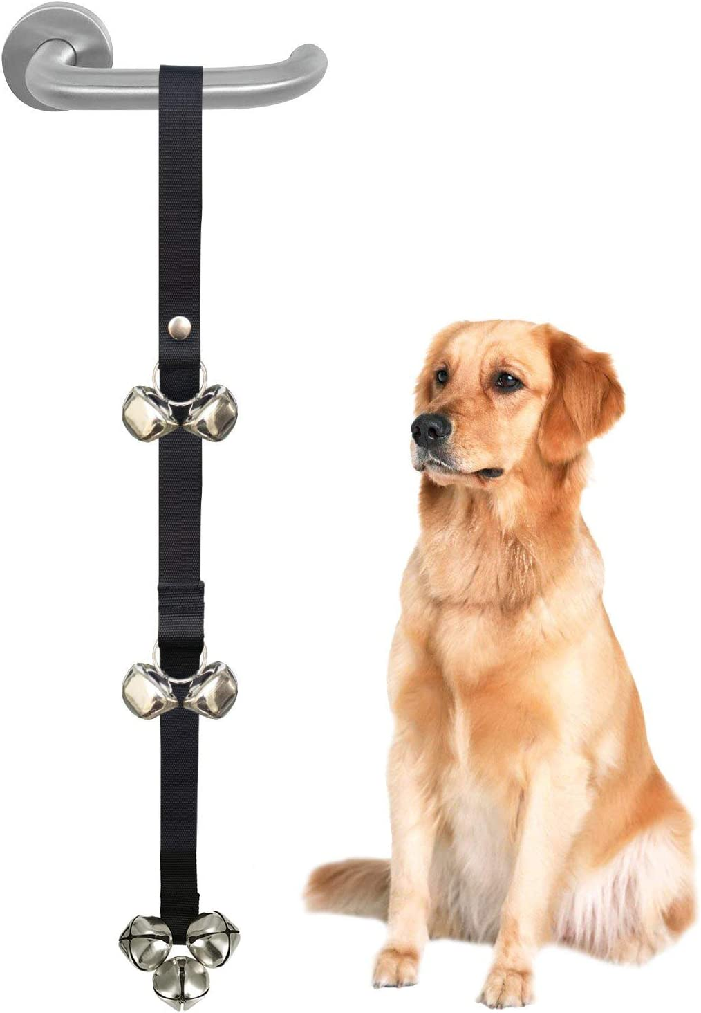 DOYOO 2 Pack Dog Doorbells Premium Quality Training Great Dog Bells Adjustable Door Bell Dog Bells for Potty Training Your Puppy The Way Premium Quality 7 Extra Large Loud 1.4 DoorBells