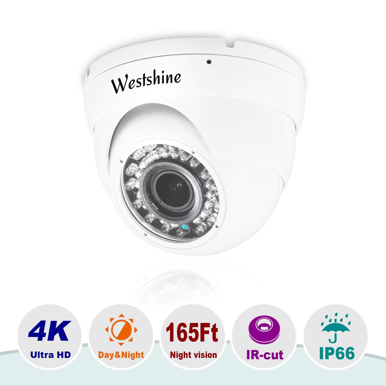 Westshine Cam/éra d/ôme 5MP AHD Cam/éra de s/écurit/é 4MP TVI//CVI IR Nightvision Objectif de 3,6 mm HD Grand Angle de Vision int/érieur//ext/érieur pour 5MP AHD DVR DVR 4MP TVI//CVI et 960H DVR