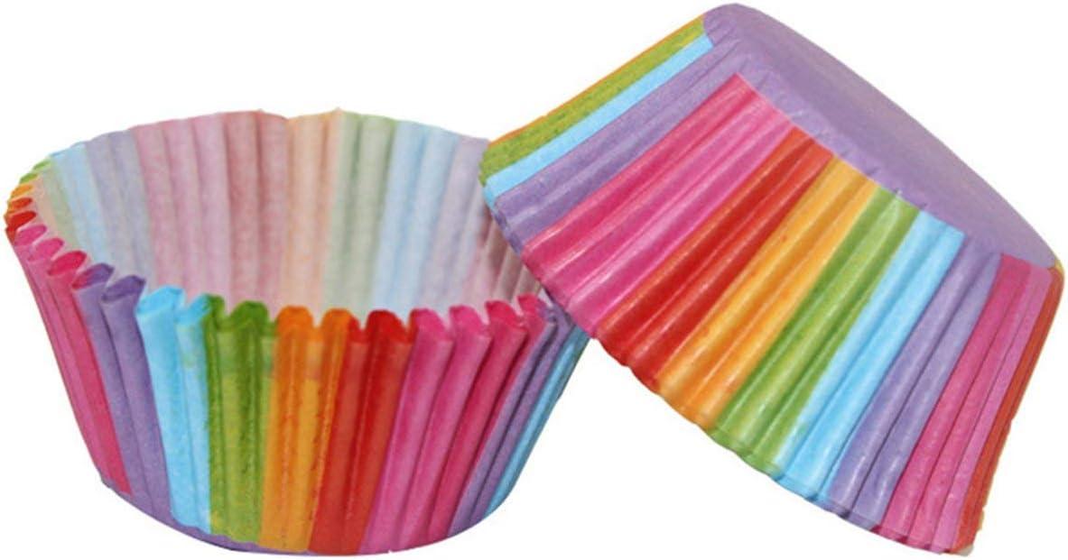 Peony 100pcs Muffa del bign/é del Muffin colorato Muffa Rotonda del bign/é teglia da Forno Stampo Macchina teglia da Forno Stampo Fodera