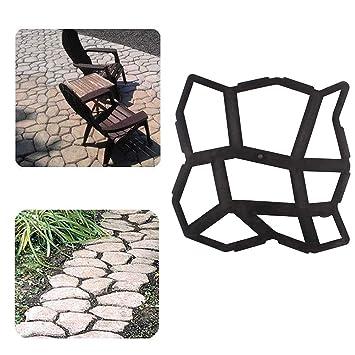 Molde de Piedra GOTOP para Hacer Caminos, pavimentar hormigón, pavimento, pavimento, pavimento, etc.: Amazon.es: Jardín