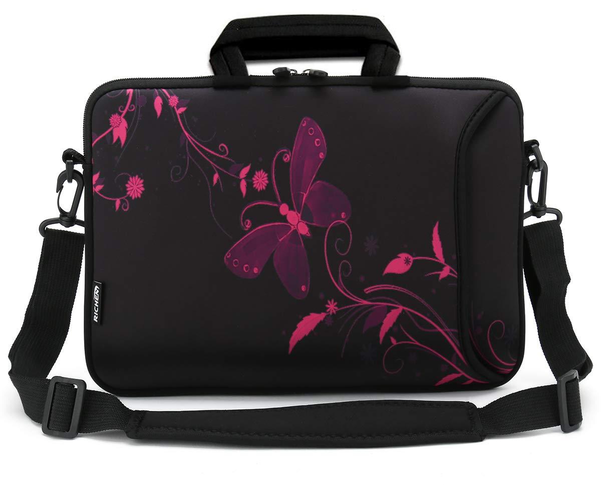 RICHEN 11 11.6 12 12.5 13 inch Case Laptop/Chromebook/ Ultrabook/MacBook pro air Notebook PC Messenger Bag Tablet Travel Case Neoprene Handle Sleeve with Shoulder Strap & Accessories Pocket