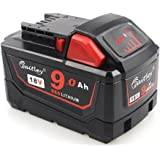 Waitley 18V 9.0Ah M18 Replacement Lithium-Ion Battery for Milwaukee M18 Compatible with M18B 48-11-1820 48-11-1850 48-11-1828 48-11-10