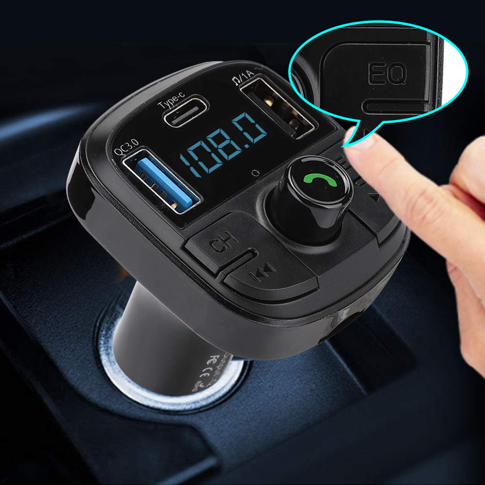 QC3.0 Type-C Dual USB BT29 Car Bluetooth 5.0 MP3 Radio Player for FLAC//WMA//APE Car Bluetooth Player