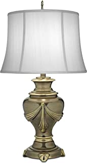 product image for Stiffel TL-N8244-RB One Light Table Lamp, Roman Bronze Finish with Off White Silk Shade