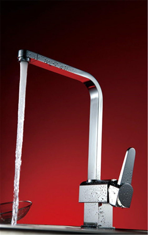 MEIBATH Wasserhahn Küche Spültisch Armatur Küchenarmatur Spültischarmatur Wasserkran Mischbatterie Kalt Warm alle Kupfer Wasserhahn