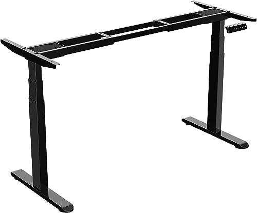 AIMEZO Dual Motor Electric Adjustable Desk Base Standing Workstation Smart Desk Adjustable Height Sit Stand Home Office Standing Desk Frame