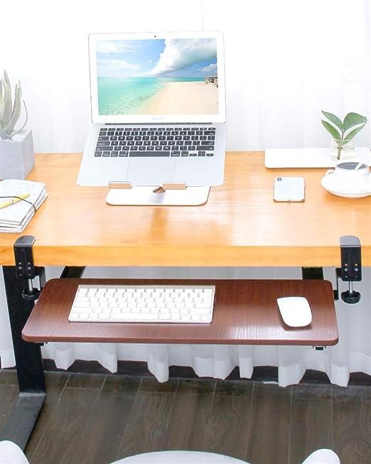 Support de clavier coulissant avec repose poignets EMUCA
