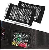 9Lune Coffre de Voiture en maille filet Magic Sticker bagages oganizer Sac, Sac double couche sac de poche avec adhésif, Lot de 2