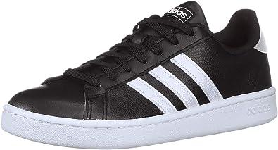 Grand Court Running Shoe, Black/White