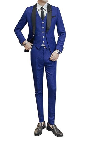 Amazon.com: uninukoo Hombres 3 Peice de graduación traje ...