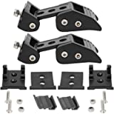 NovelBee Pair of Stainless Steel Latch Locking Hood Catch Latches and Bracket Buckle Kit for 2007-2018 Jeep Wrangler JK…