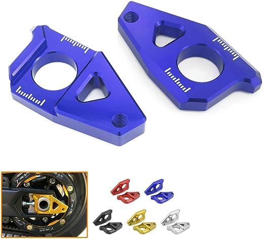Heinmo Moto CNC en aluminium essieu arri/ère Spindle blocs Ajusteur de cha/îne pour Yamaha Tmax 530/500