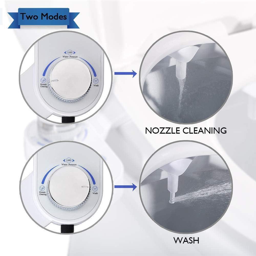 Blusea Toilet Bidet Single Nozzle Hole Bidet Fresh Water Spray Intelligent Retractable Distance Adjustable No Needs Charge Easy Installation