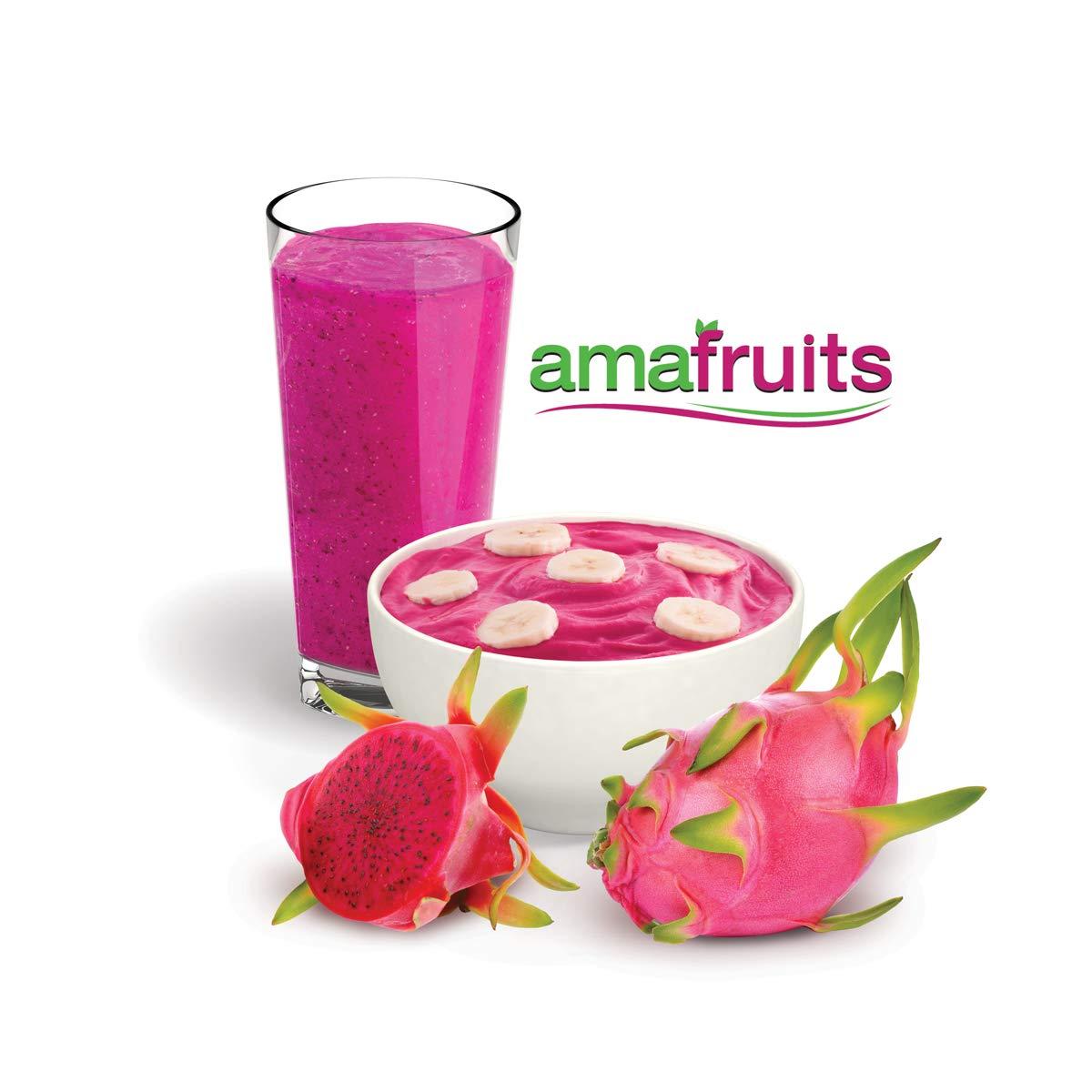 Dragon Fruit (Pitaya) Premium Frozen Bite Size Cubes by Amafruits (Image #3)