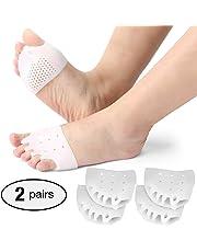 2 pares de separadores de dedos de gel, almohadillas metatarsales, Alisador de dedos de