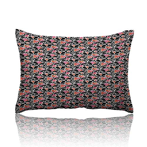 Anyangeight Abstract Standard Pillowcase Paisley Style Pattern of Water Splashes Ombre Motifs with Floral Influences Pillowcase Protector 18