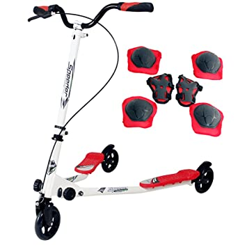 Single@Scooter patinete de 3 rueda plegable ajustable