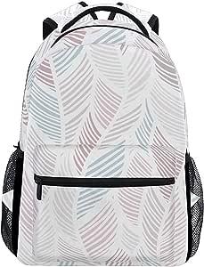 Schoolbag Pluma Rosa Abstracta Geométrica Elegante