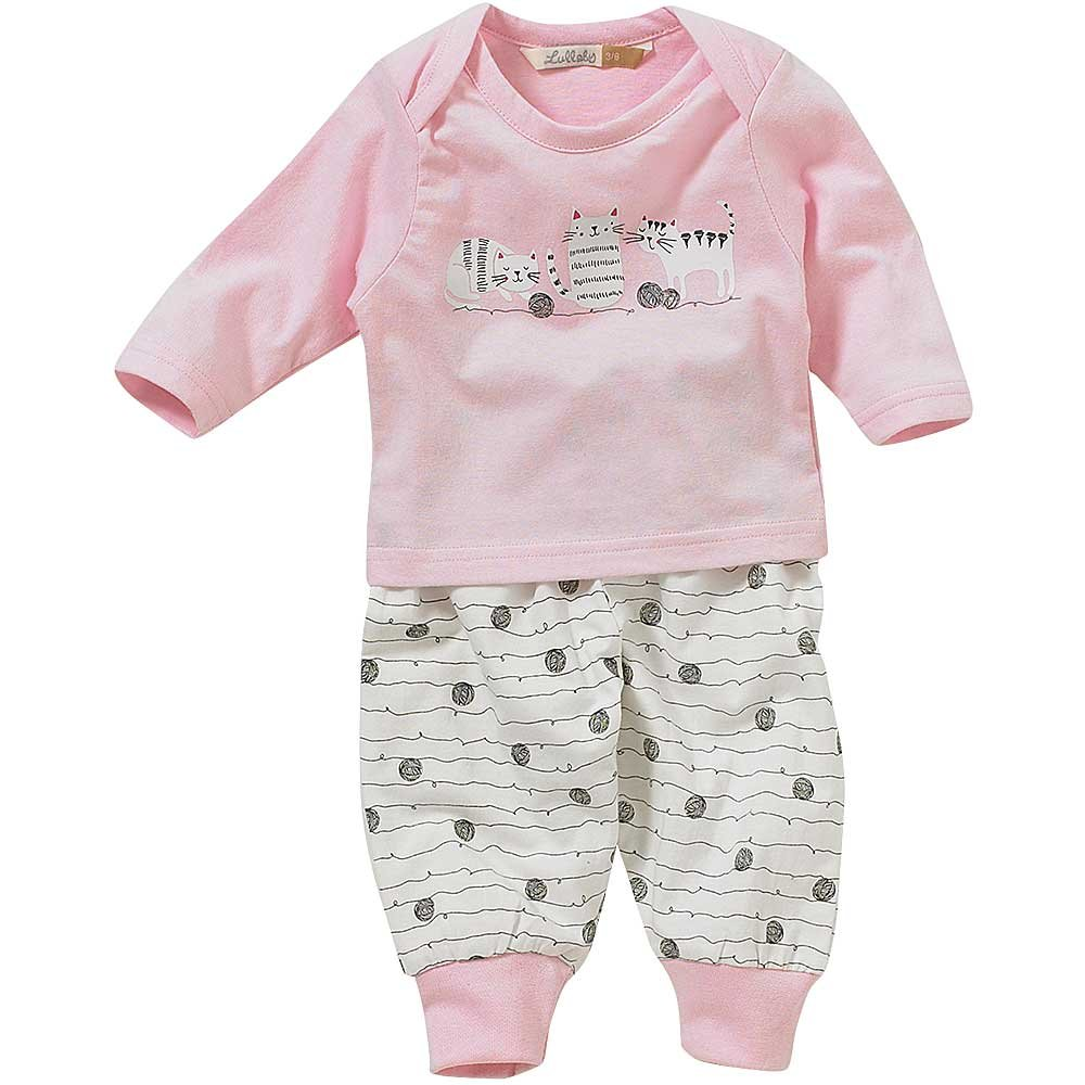 Lullaby Baby Girls Cute Kittens Cats Trio Print Pyjamas
