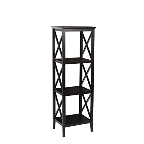 RiverRidge Home X Frame Bathroom Towel Tower   Espresso