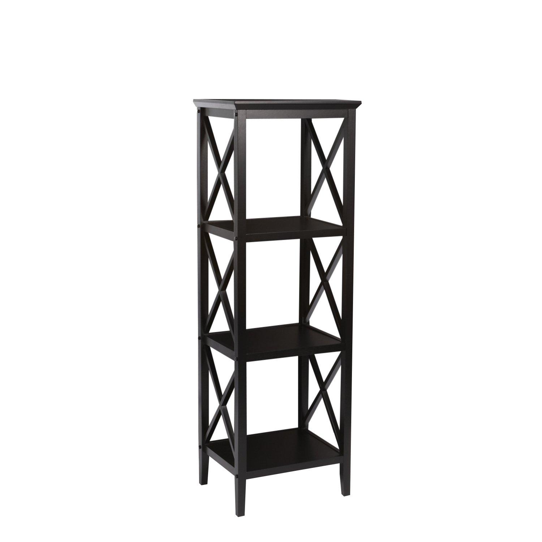 RiverRidge Home X-Frame Bathroom Towel Tower - Espresso