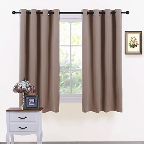 ponydance blackout curtains for bedroom kitchen energy saving room darkening home decoration eyelet blackout curtain draperies - Small Window Curtains