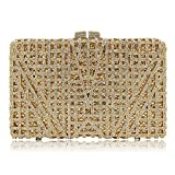 Milisente Women Evening Bag Crystal Evening Clutch Purse (Gold)