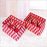 CLG-FLY Shelf ice ribbons woven color Organizer without cover box with four twin stuff,19148.5CM,S M L