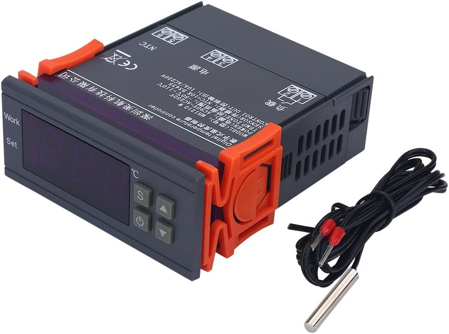 50~110 ℃ Mini Digital Temperaturregler 220V 10A LCD Display Thermostat f/ür K/ühlschr/änke Farmen Wissenschaftliche Laboratorien Topiky