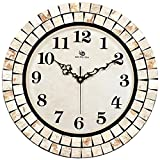 Jedfild The Mosaic craft wall clock living room mute creative Clock
