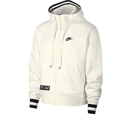 Nike M NSW Air Hoodie FZ FLC Sudadera, Hombre, Sail Black, 2XL