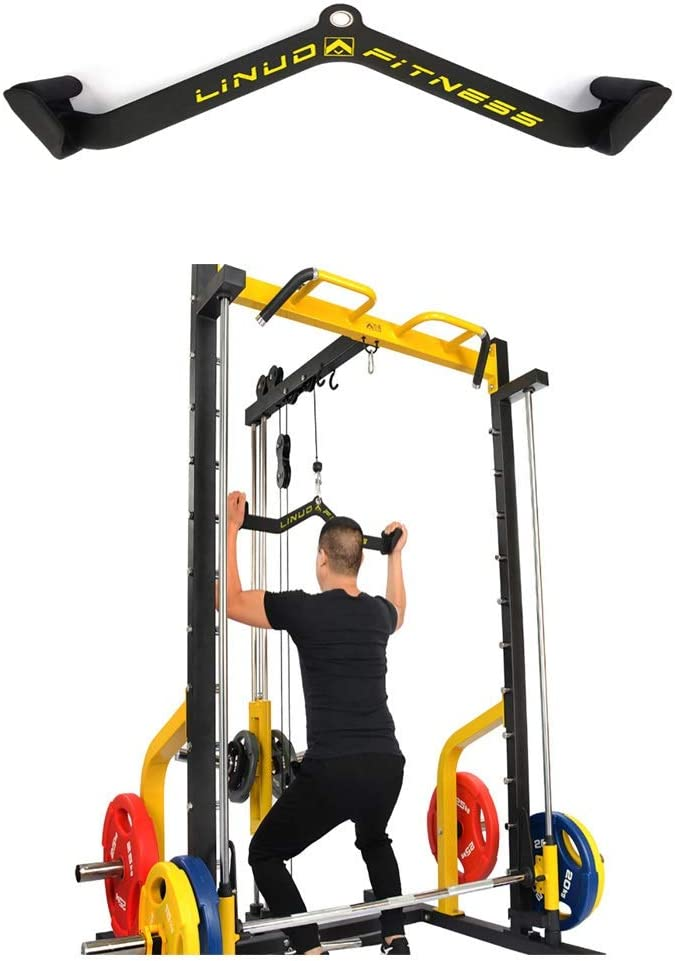 """34/"""" and 38/"""" Available Sizes 24/"""" Synergee Pro-Style LAT Bar Cable Attachment Universal Attachment for Cable Machines Pull Down//Press Down Bar Accessory"""