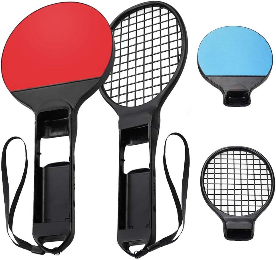 Raqueta de Tenis para Nintendo Switch, Achort Raqueta de Tenis de Mesa portátil de Ping Pong Bat, Pack de 2 Raquetas Accesorios para Nintendo Switch Juego Mario Tenis Aces
