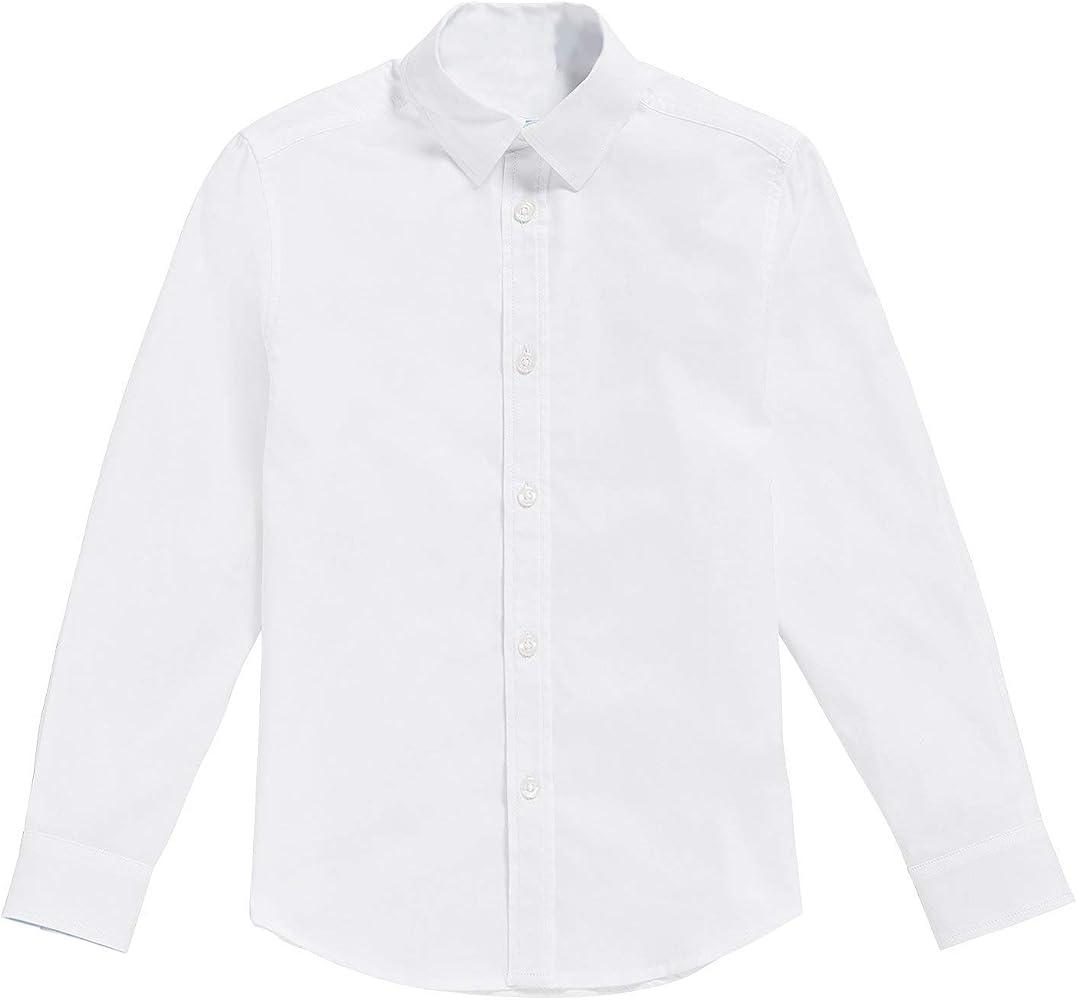 Classic - Camisa Blanca de niños con Pajarita Negro (16-17 años ...